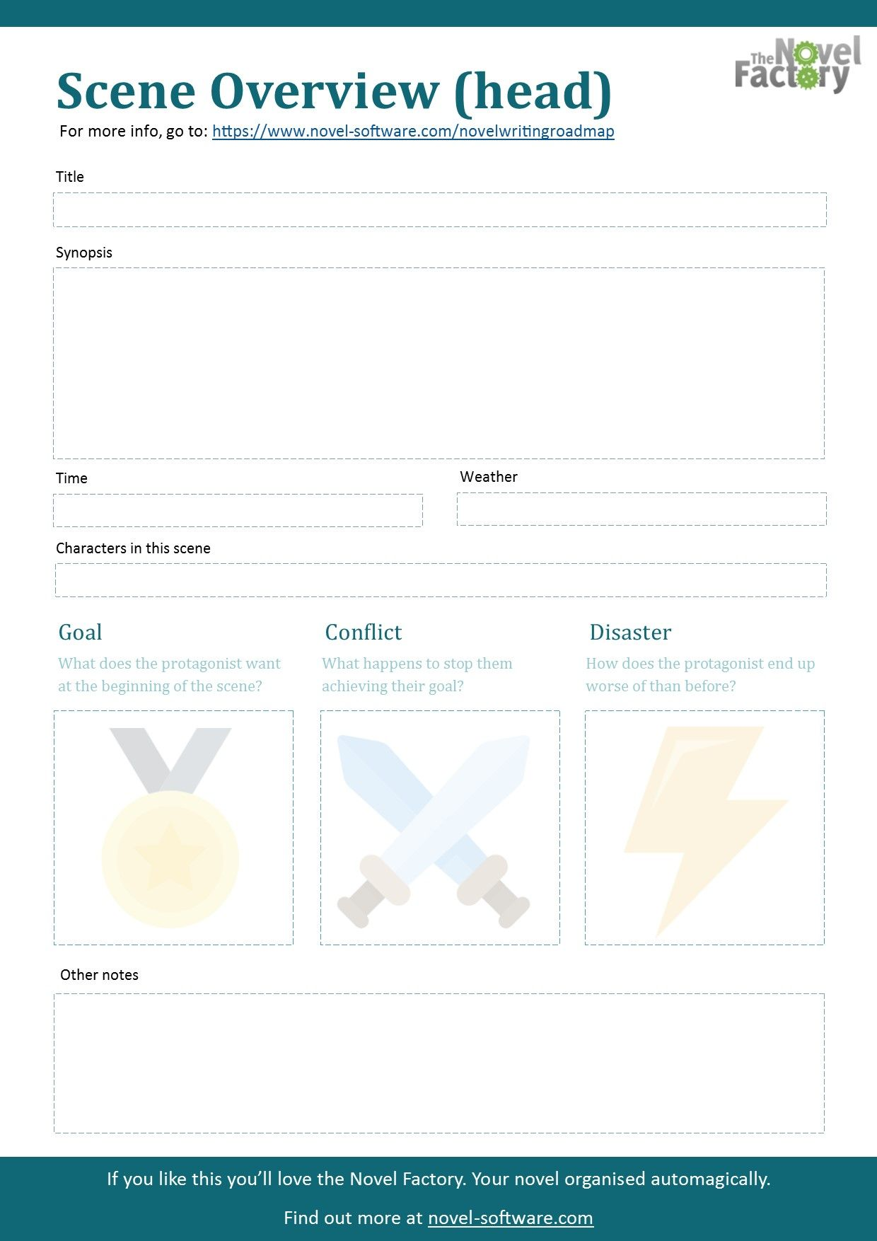 Scene Overview worksheet - free downloadable printable PDF to help ...