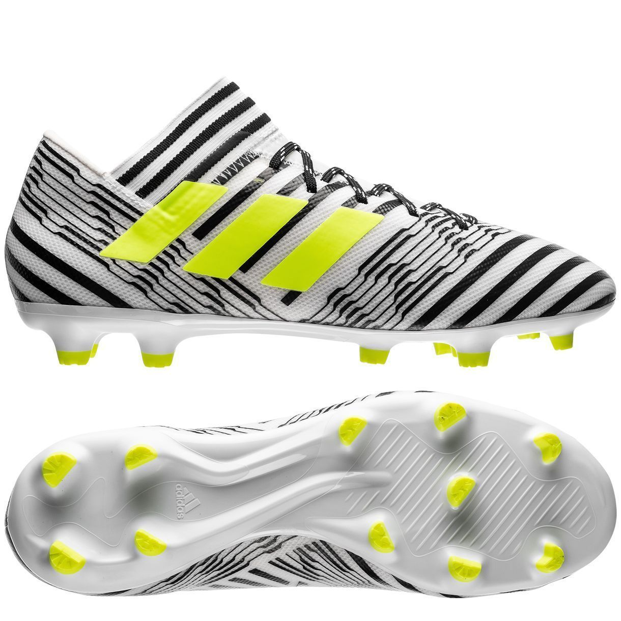 adidas Nemeziz 17.3 FG 2017 Soccer Shoes Cleats White / Black / Yellow  Brand New
