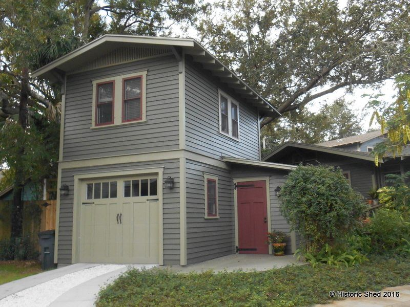 Two-Story One-Car Garage Apartment/ Carriage House | Historic Shed ...