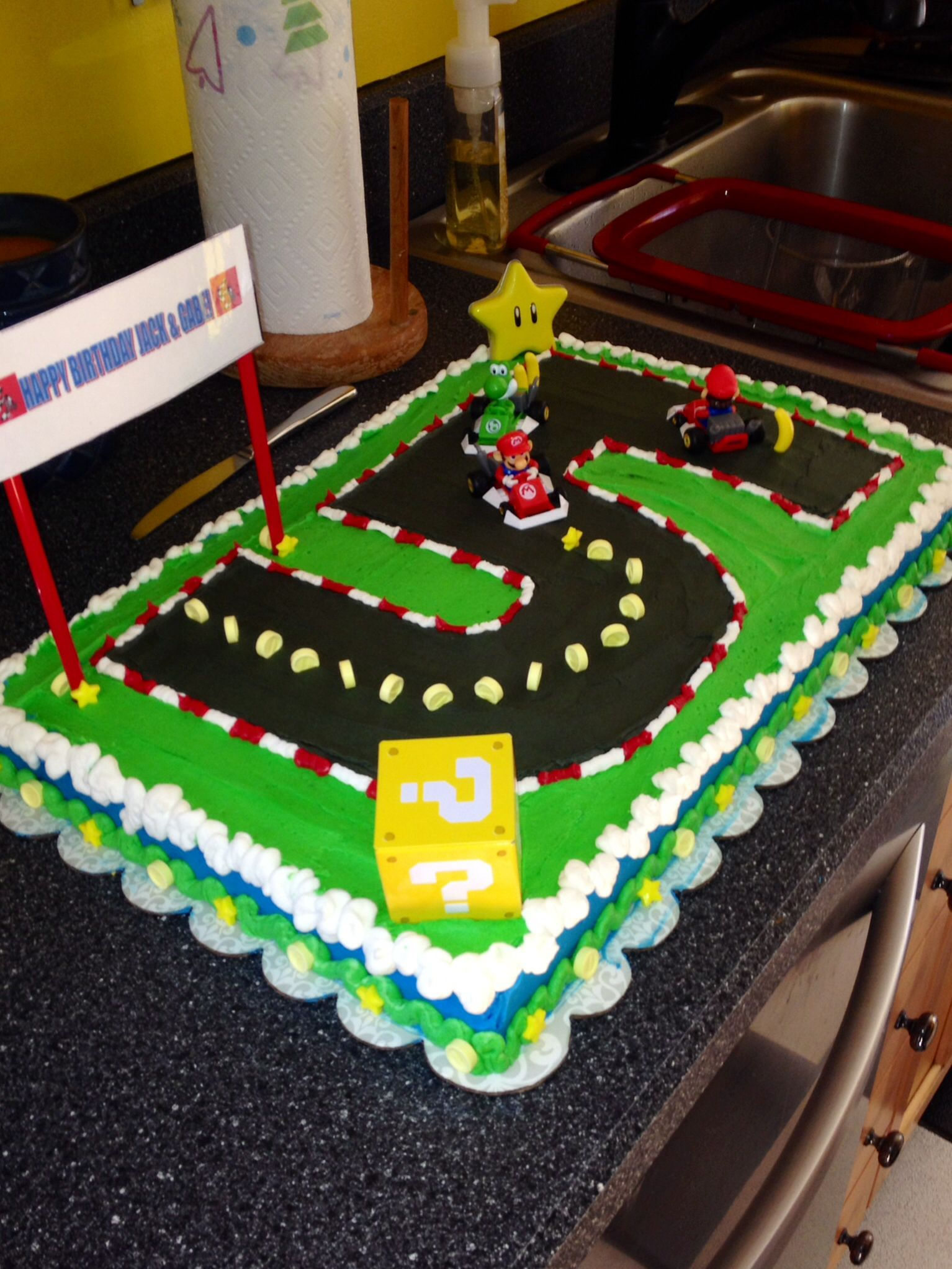Mariokart Cake Mario Birthday Party