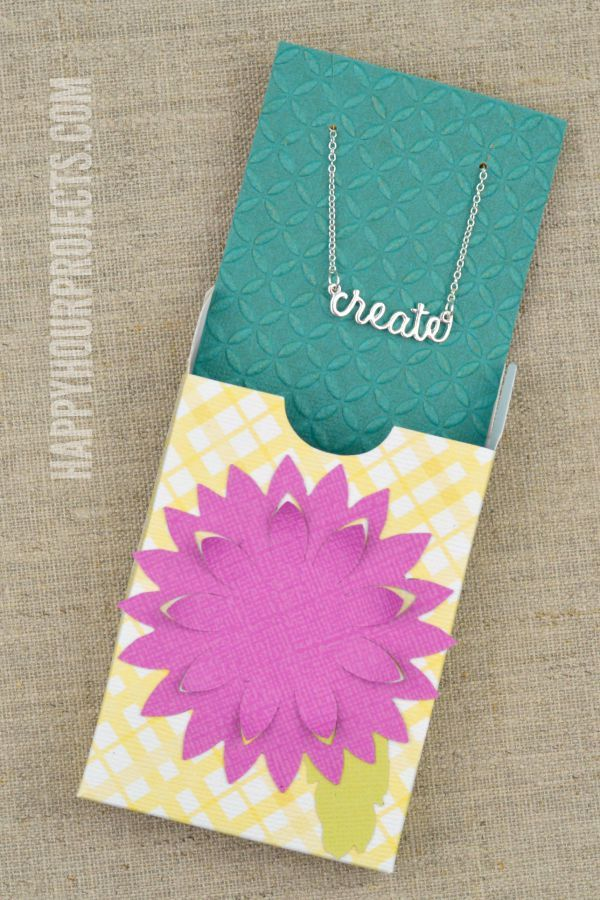 How to Make a Jewelry Gift Box Easy DieCut Project at www