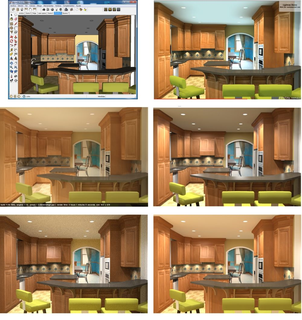 Sketchup plugin rendering comparison sketchup rendering rendering software cad software 3d design software