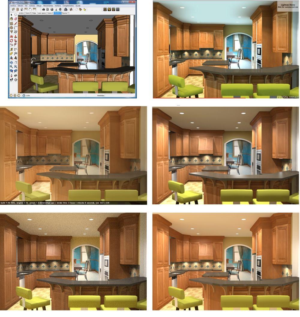 Sketchup For Interior Design Five Rendering Plugins Comparison