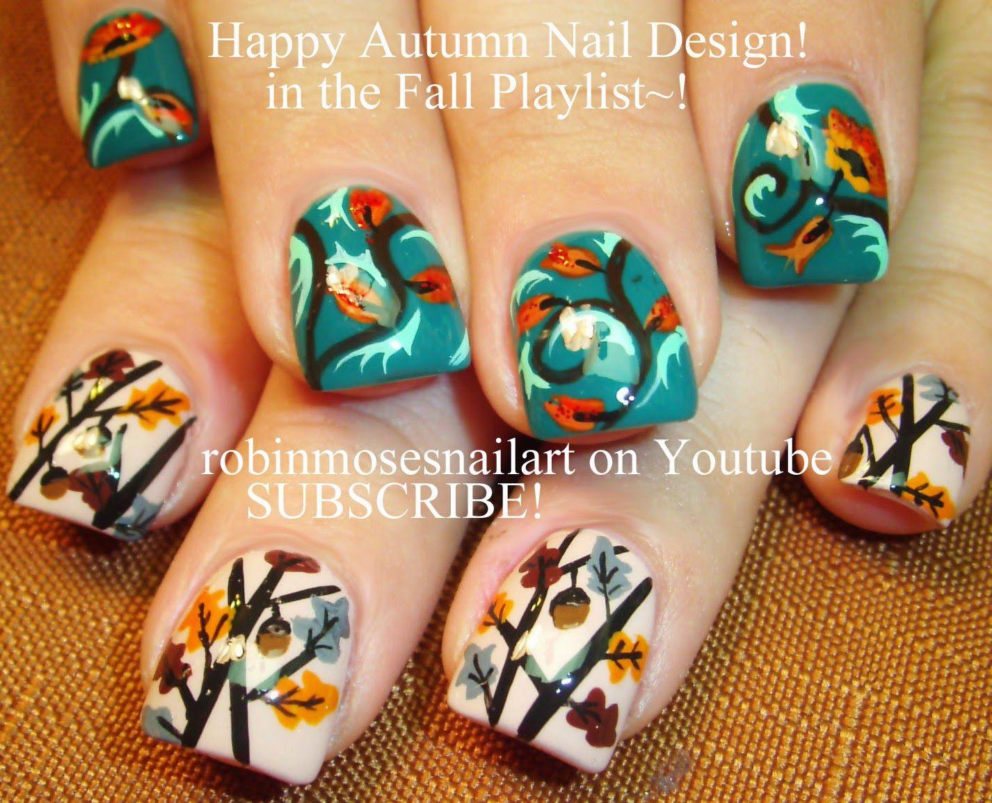 Thanksgiving pedicure designs nail art tutorials fall nail art fall leaves fall nail art fall nails easy fall leaves fall designs autumn nails autumn nail art diy fall nail art designs tutorial robin moses prinsesfo Image collections