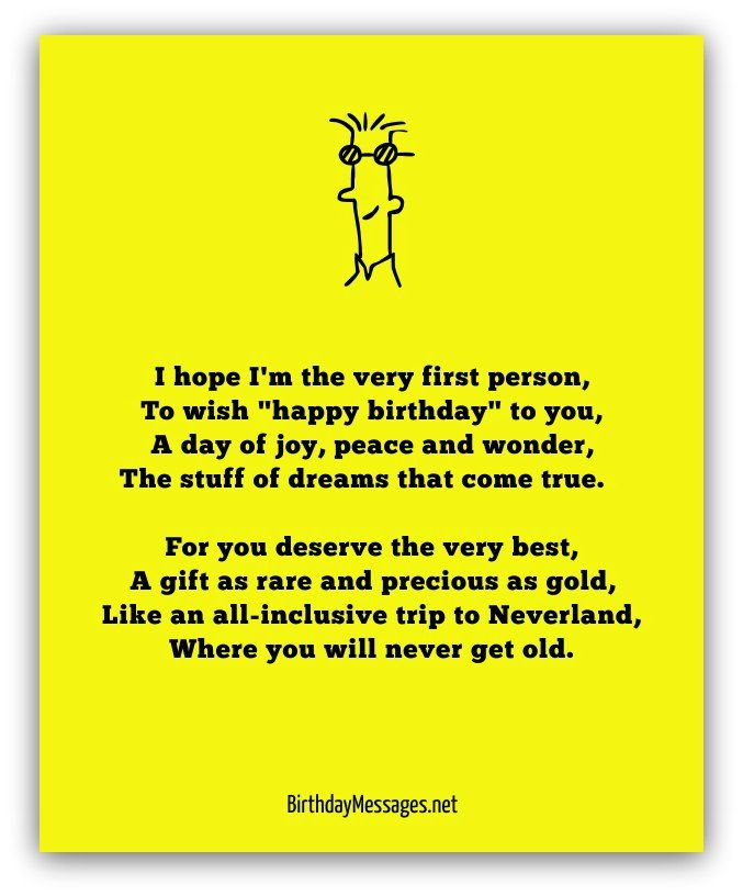 Funny Birthday Wishes Poems Write Birthday Card Funny: Happy Birthday Poems - Happy Birthday Messages
