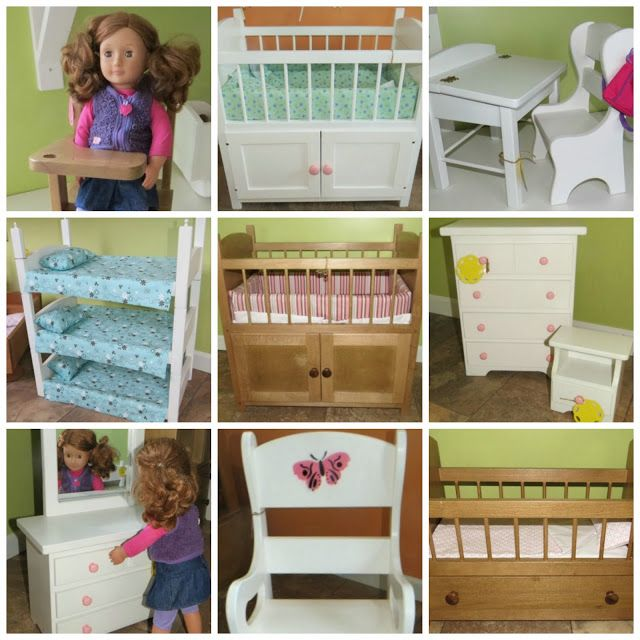 American Girl Doll Living Room Furniture: Heirloom Quality Heavy, Wooden Doll Furniture