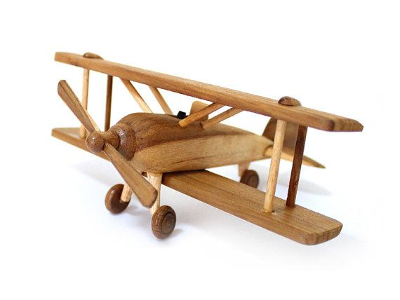 Wooden Toy Airplane in Handmade and Natural color and Non-toxic ...