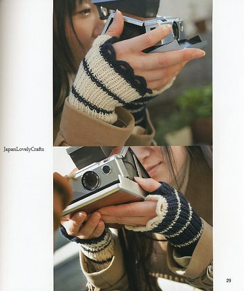Fun with Knit Wrist Warmers Japanese by JapanLovelyCrafts on Etsy