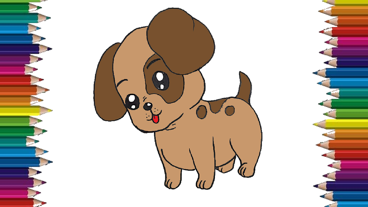 How to draw a baby dog step by step (With images) | Dog ...