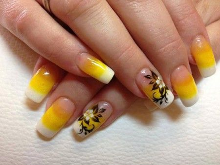 unhas decoradas modernas amarela - Pesquisa Google Arte de uñas - uas modernas