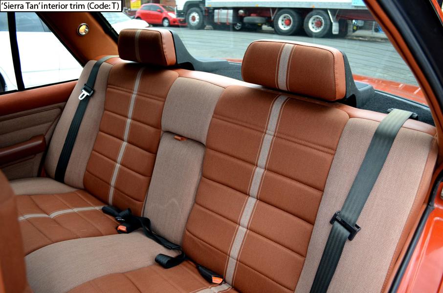 Ford Fairmont Ghia Xe Esp Sierra Tan Rear Seats Australian Cars Ford Esp