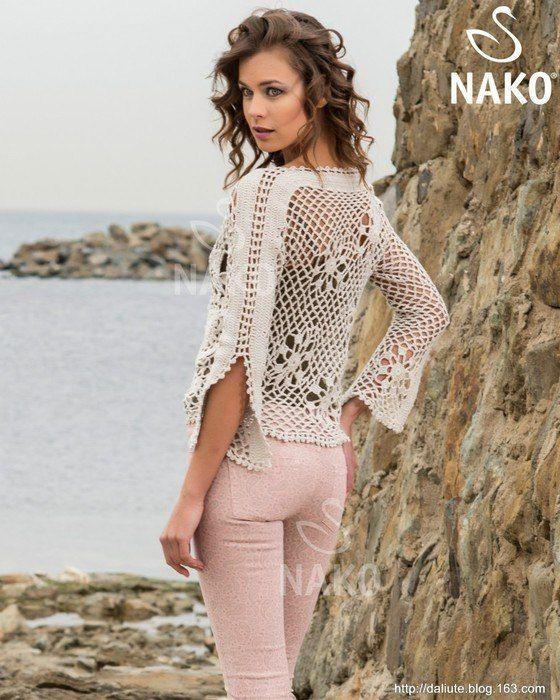 Esquemas. Blusa de crochet irlandés | SexyCrochet. | Ganchillo y ...