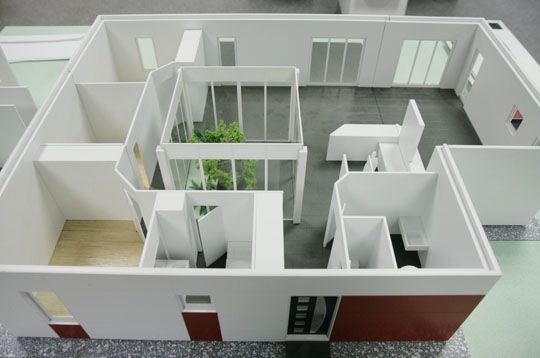 Maquette de la maison inov 106 m construction modulaire for Architecture modulaire