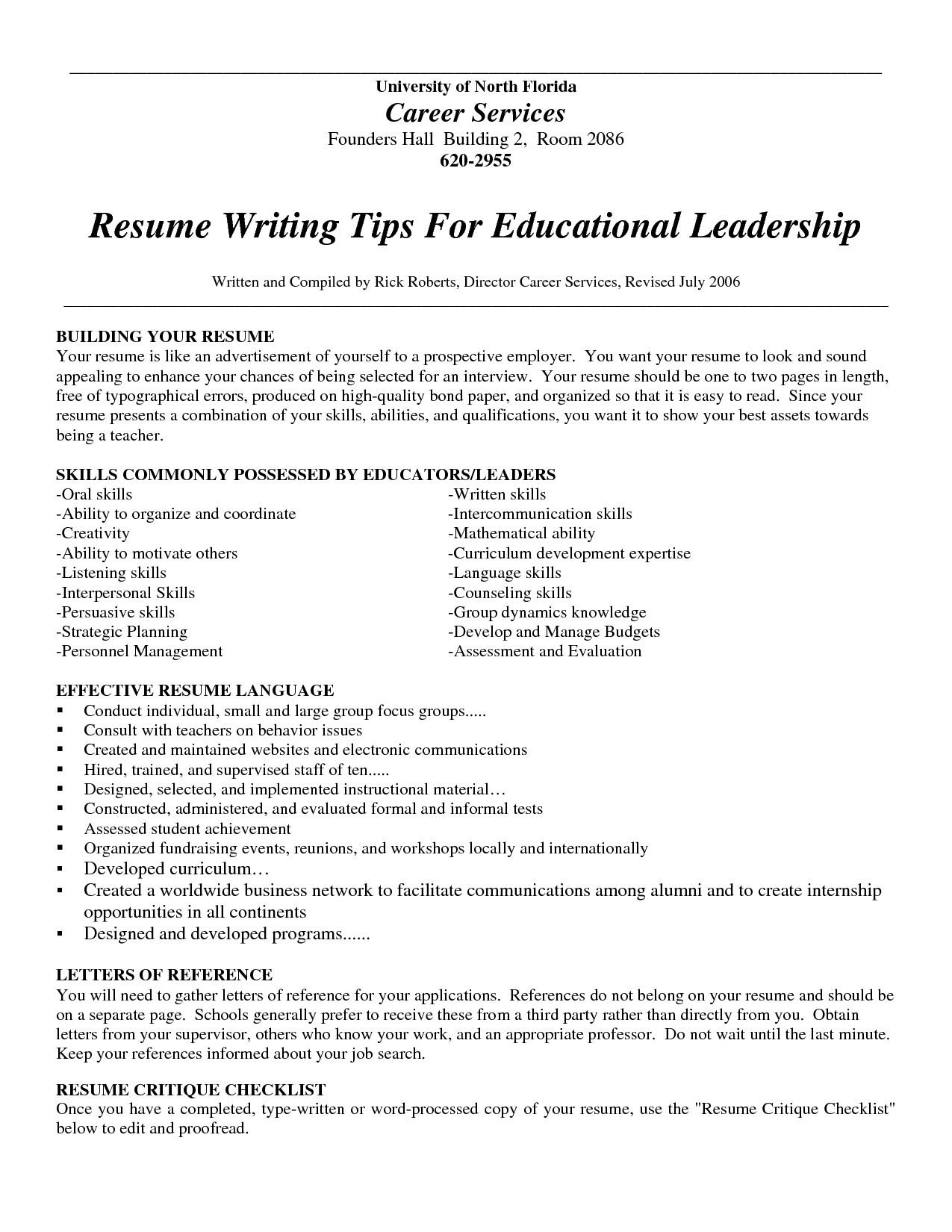 Resume References Examples Write Good Resume Tips Sample Cover Excellent Idea Writing Example