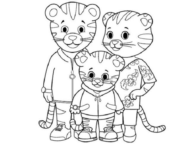 Daniel Tiger Coloring Pages Printable Warna