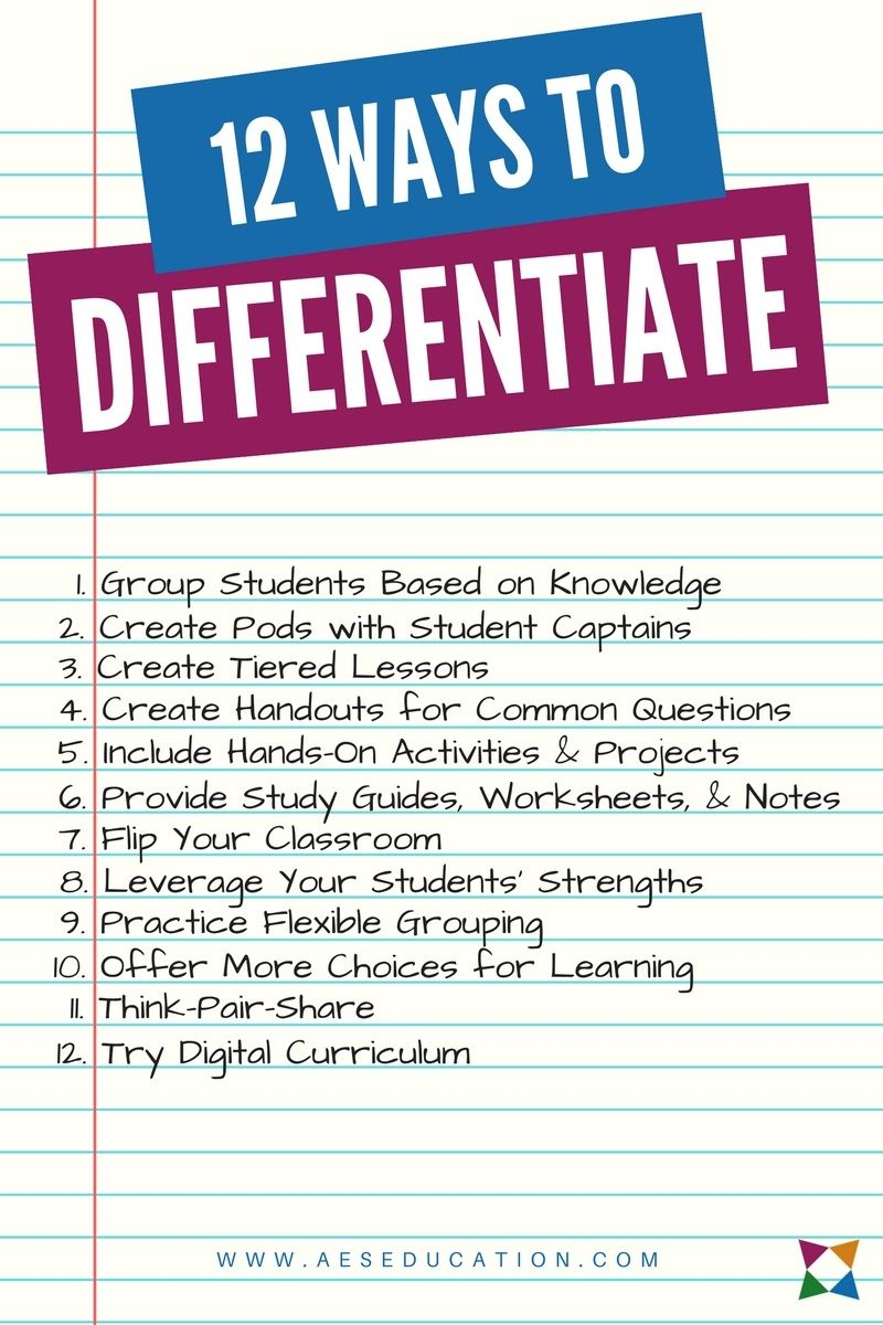The 12 Best Differentiated Instruction Strategies For Cte Teaching