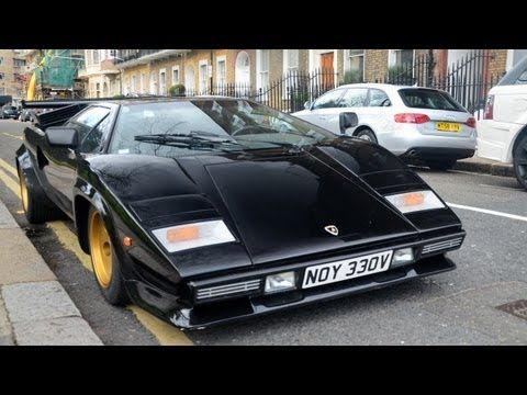 Lamborghini Countach 5000s Exhaust Sounds Youtube
