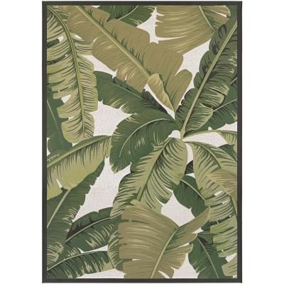 Couristan Dolce Palm Lily Hunter Green Ivory 2 Ft X 4 Ft Indoor Outdoor Area Rug 75060004023311t Indoor Outdoor Area Rugs Outdoor Area Rugs Couristan