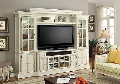 White Entertainment Center 72 Tv Stand Wall Unit Charlotte By Parker House