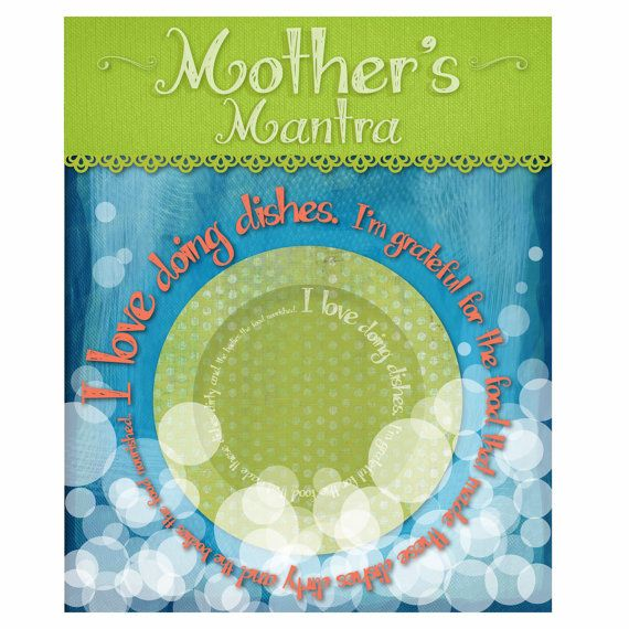 Mother's Mantra  Washing Dishes  Whimsical by AndreaMunchmeyer, $22.00