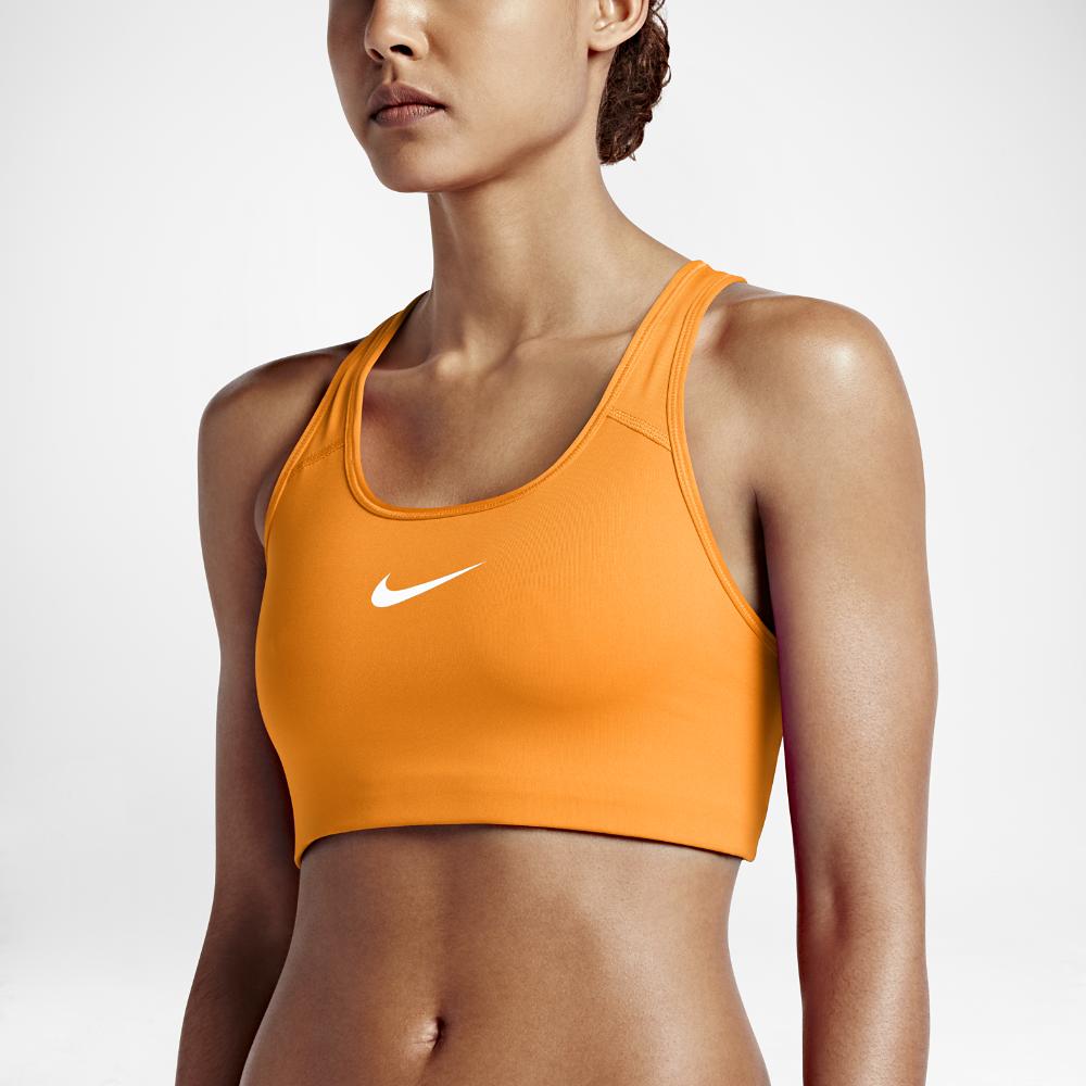1318c6e21b Nike Pro Classic Swoosh Women s Medium Support Sports Bra Size XL (Orange)