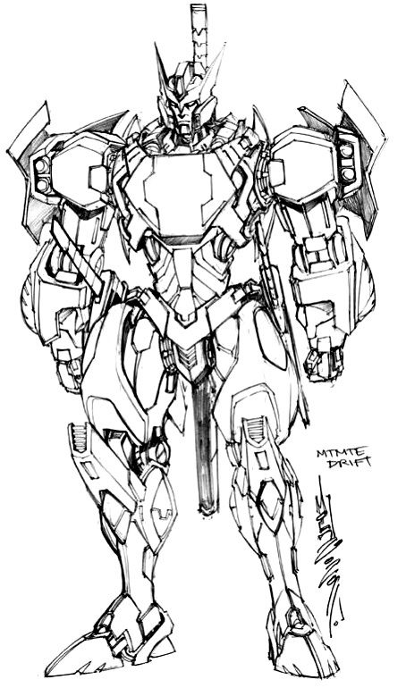 Drift By Alex Milne Transformers Artwork Transformers Drawing Transformers Comic