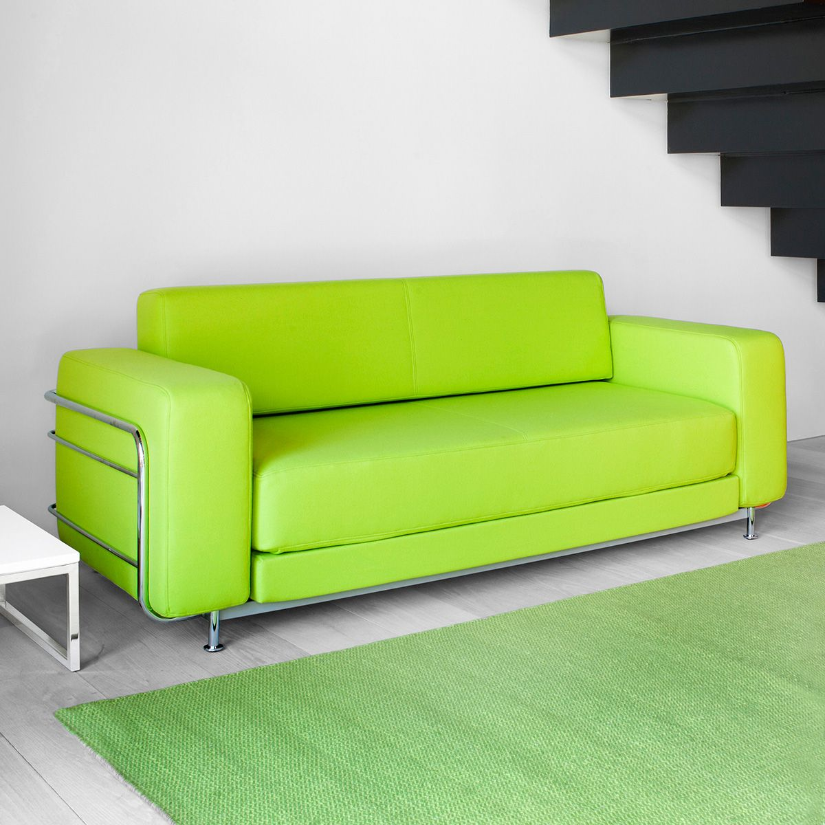 Give Your Home A Trendy Look With 2017 Green Leather Sofa Sofas  # Muebles La Moheda