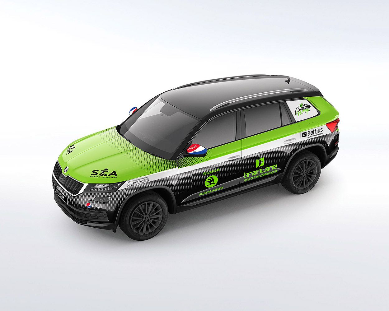 Concept Car Wrap Skoda Kodiaq For Aa Drink Soccer Arena