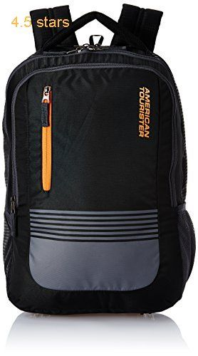 8a25f18e525 American Tourister Polyester 32 Ltrs Black Laptop Backpack (AMT AERO LAPTOP  BKPK 01 -BLACK