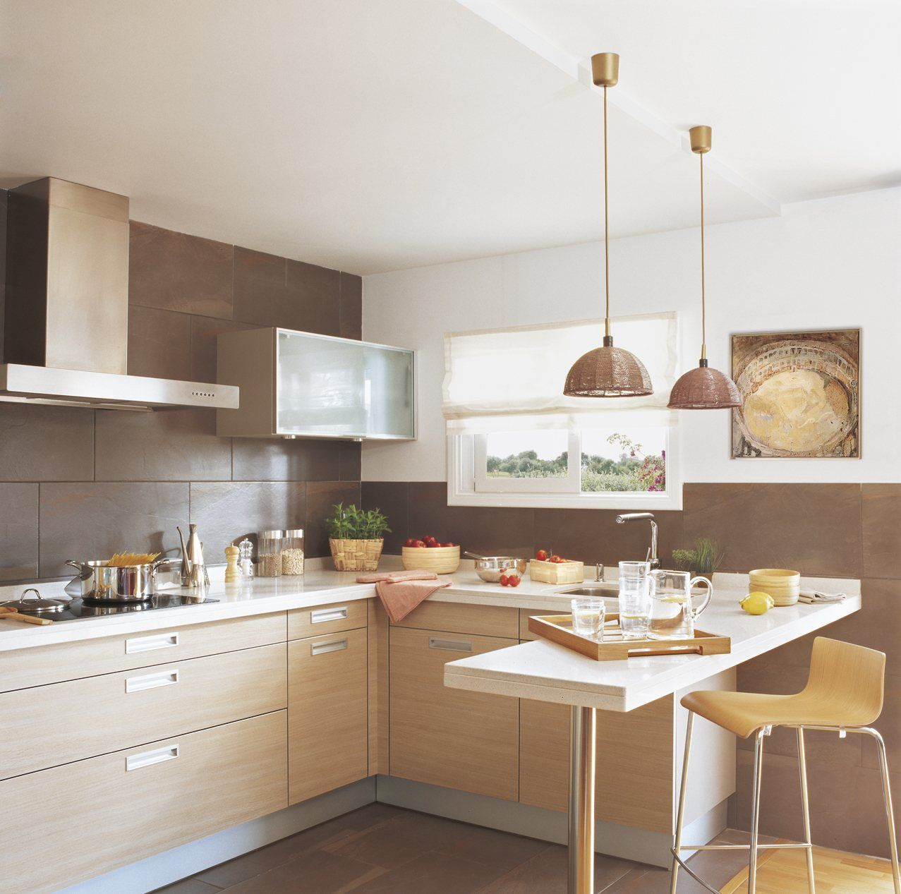 15 cocinas peque as y muy bonitas kitchens ideas para for Ideas para cocinas pequenas