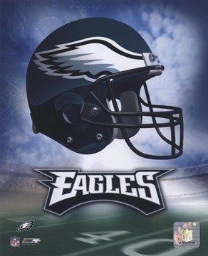 Philadelphia Eagles Helmet Logo #football #NFL #shopforart
