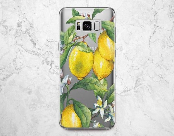 Lemon phone case Samsung note 10 Galaxy A8 A20 s10e Fruit | Etsy