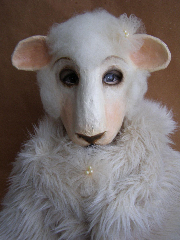 Masquerade mask paper mache mask sheep mask animal mask sheep head ...