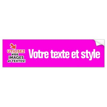 To print your designs in magenta line diy french bumper sticker diy gifts cyo creative