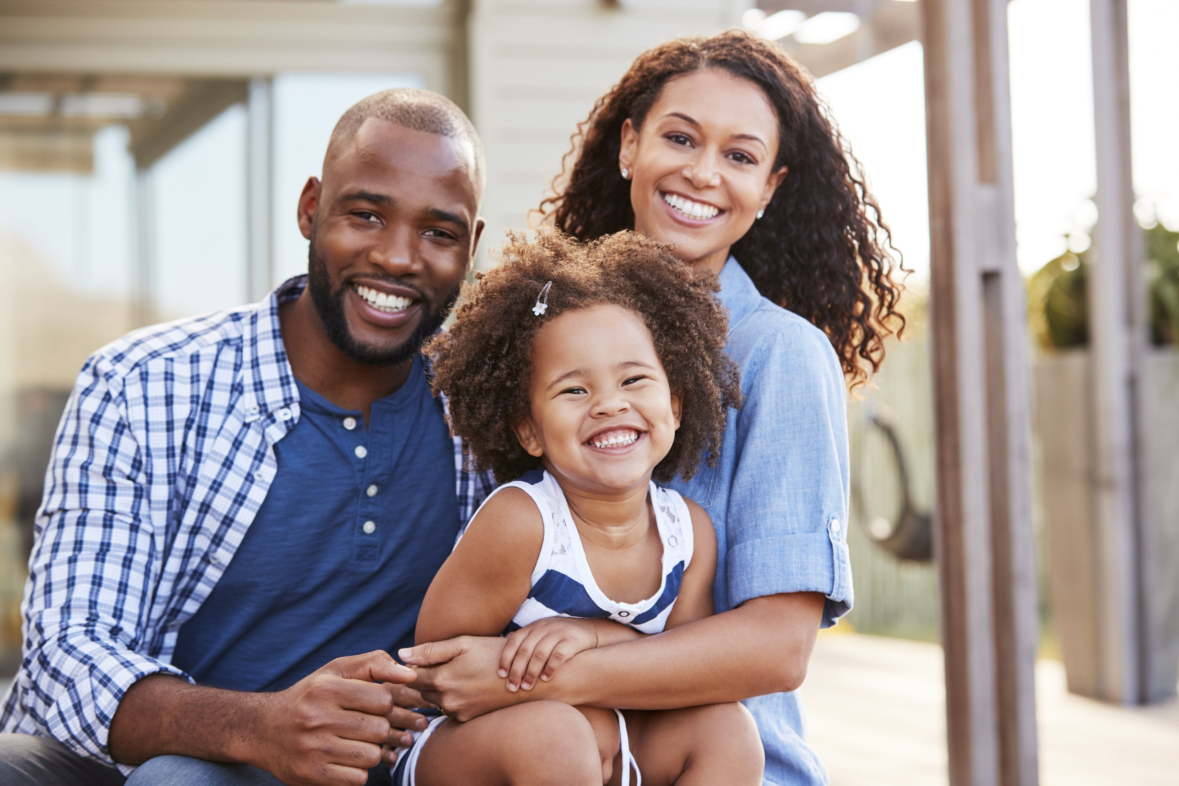 How to choose a family friendly home family stock photo