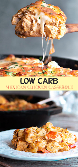 LOW CARB MEXICAN CHICKEN CASSEROLE | EAT #mexicanchickentacos