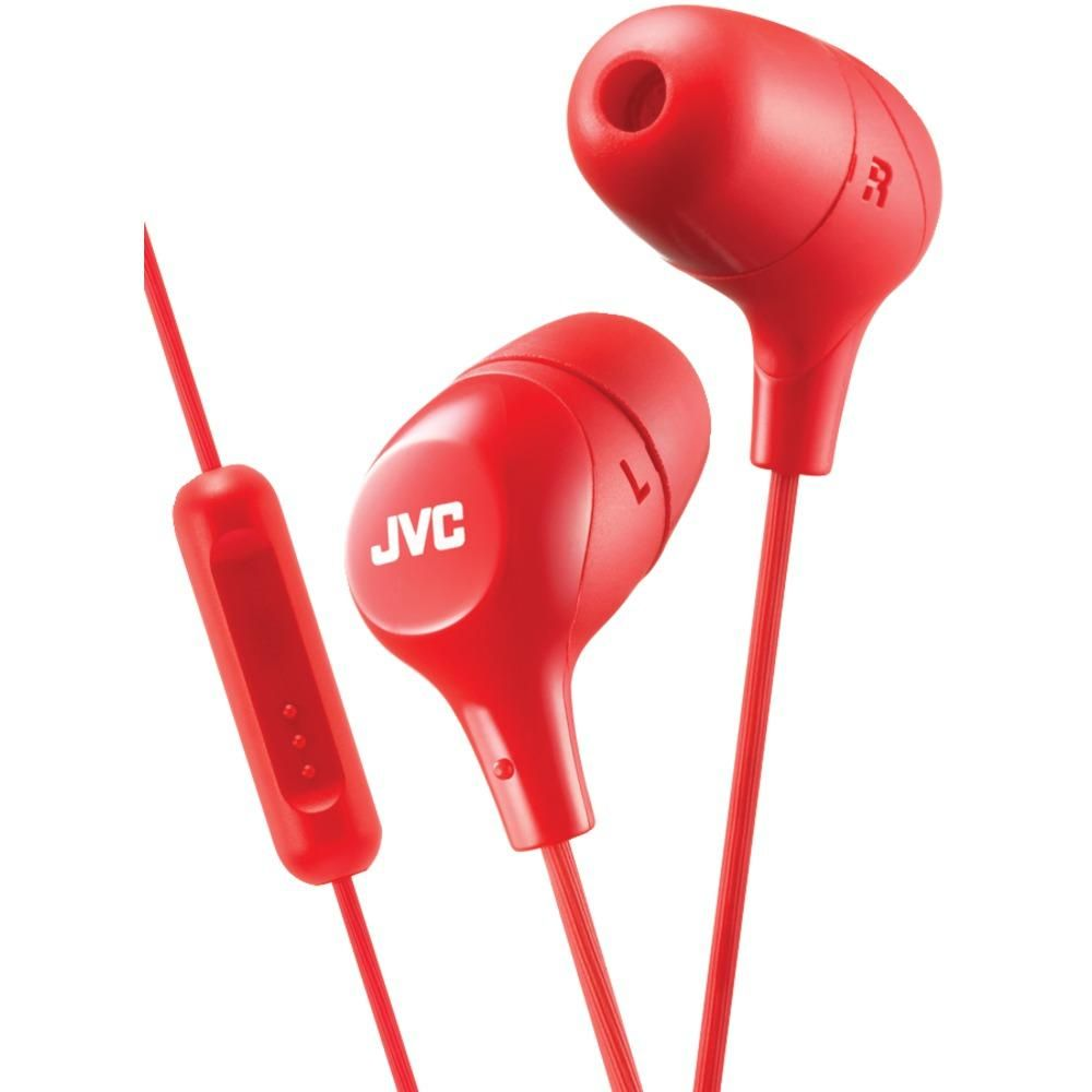 e733ab30110 JVC(R) HAFX38MR Marshmallow(R) Inner-Ear Headphones with Microphone (Red)