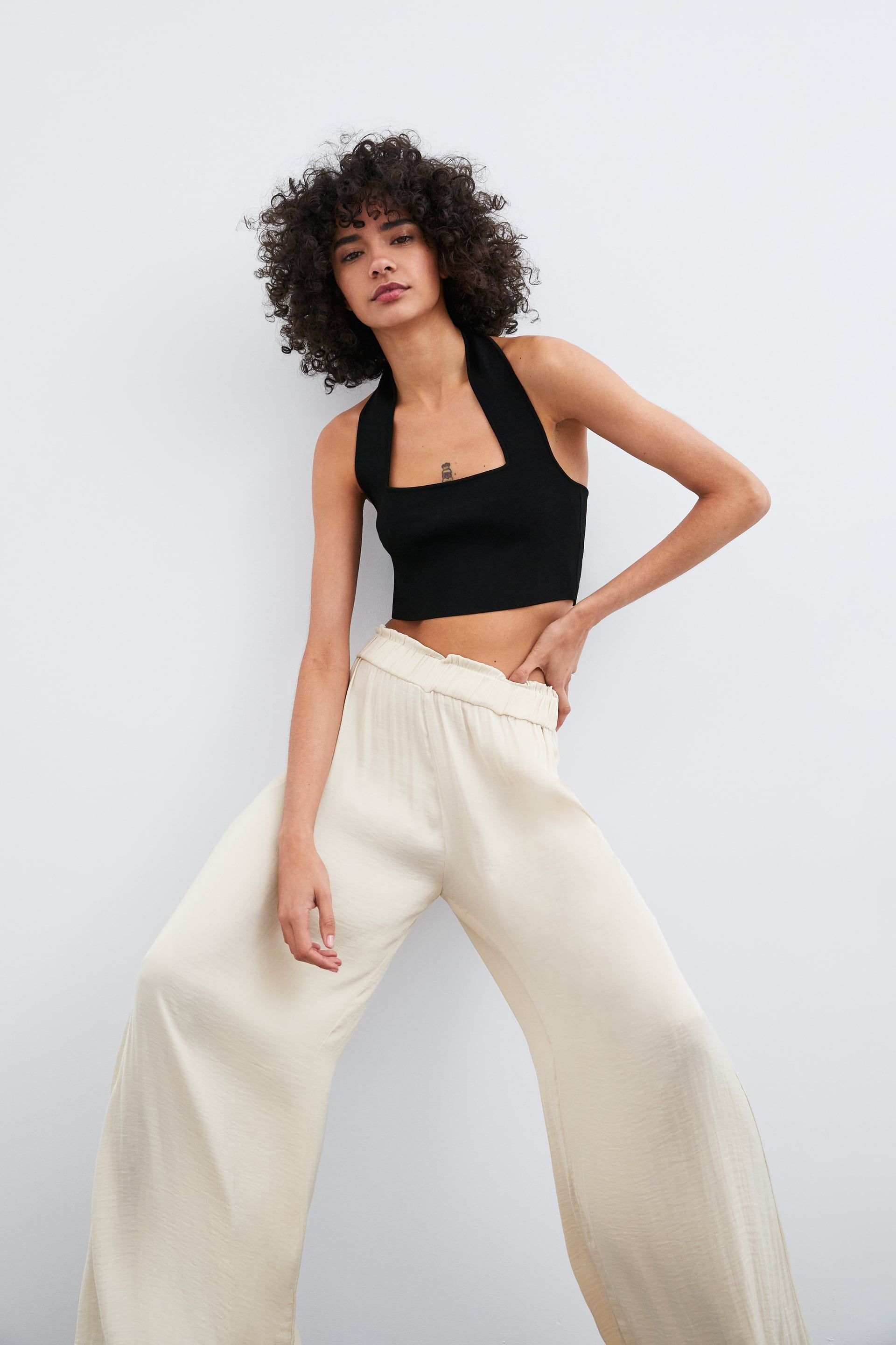 75bd6b1253 WIDE FLOWY PANTS - View all-PANTS-WOMAN | ZARA United States ...