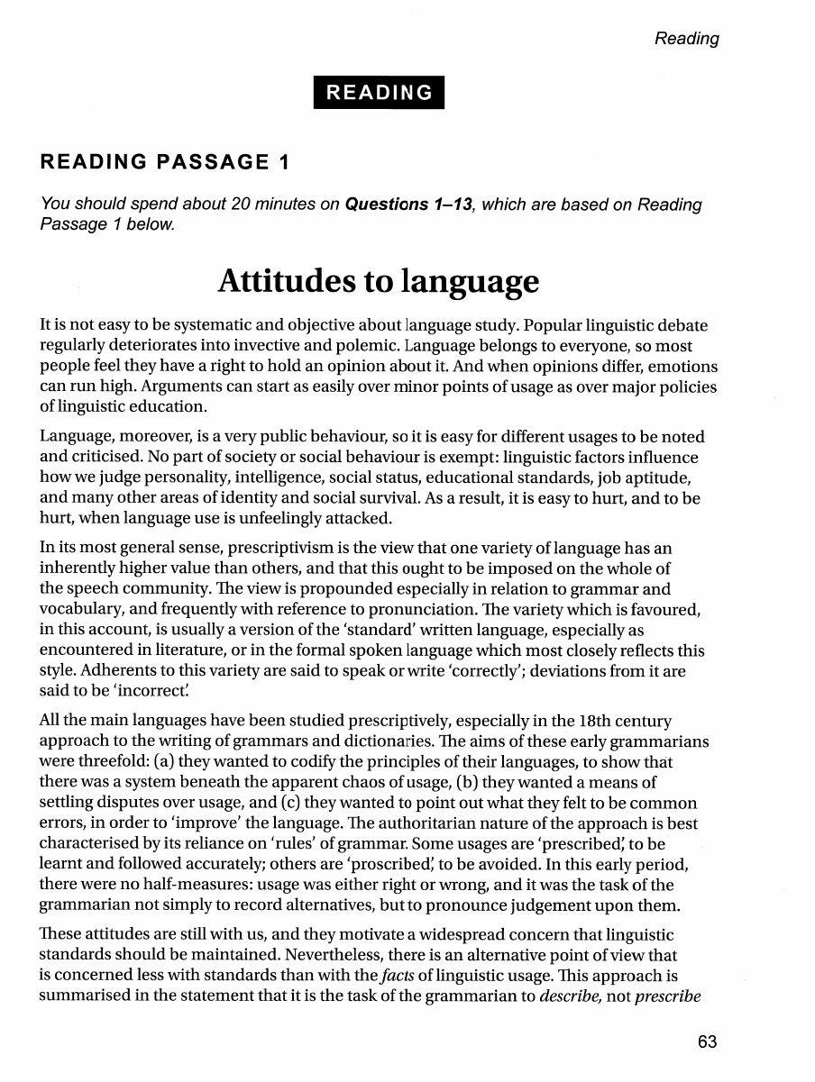 Attitudes to Language- IELTS Reading | READING IELTS | Ielts