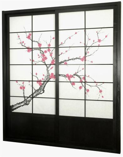7 Ft Tall Cherry Blossom Shoji Sliding Door Kit Id 295805 Door