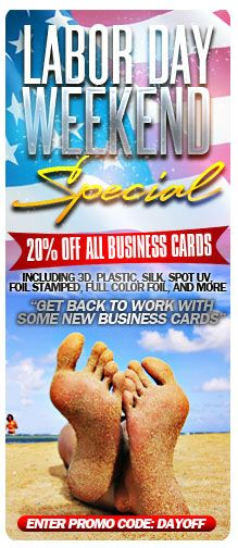 Get 20 Off All Business Cards From Elite Flyers With Promo Code