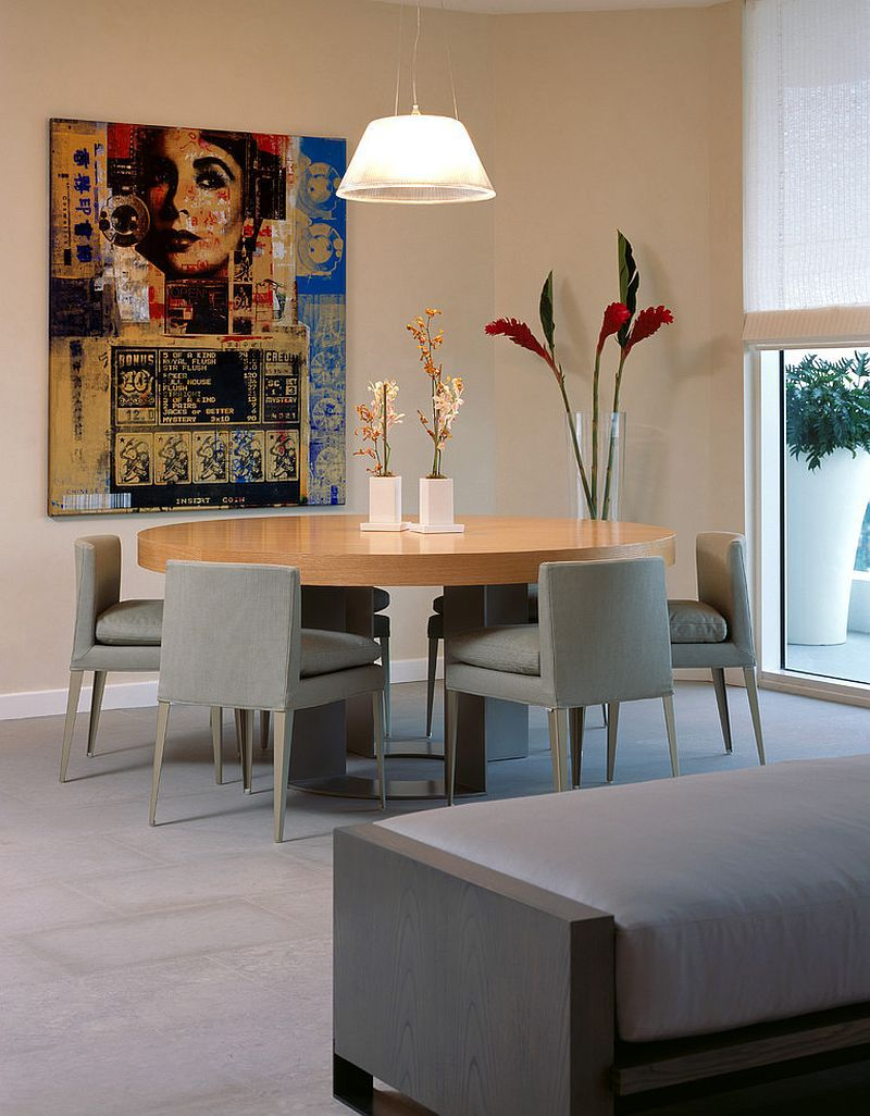 20 Contemporary Dining Rooms With Circular Wooden Tables Want To Add A  Round Table To Your
