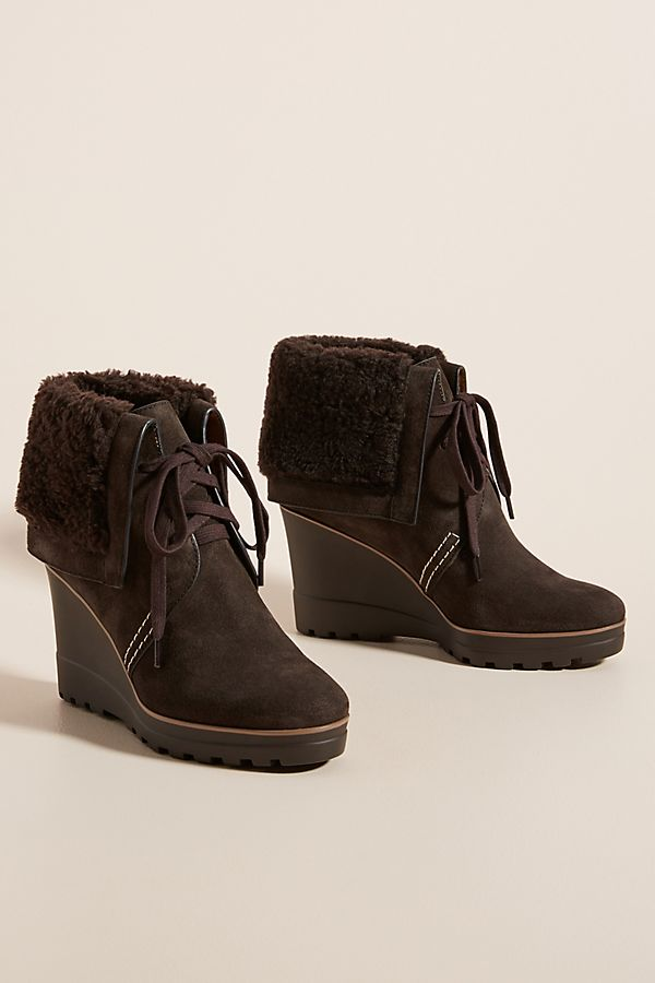 See by Chloe Shearling-Lined Wedge Boots #seebychloe