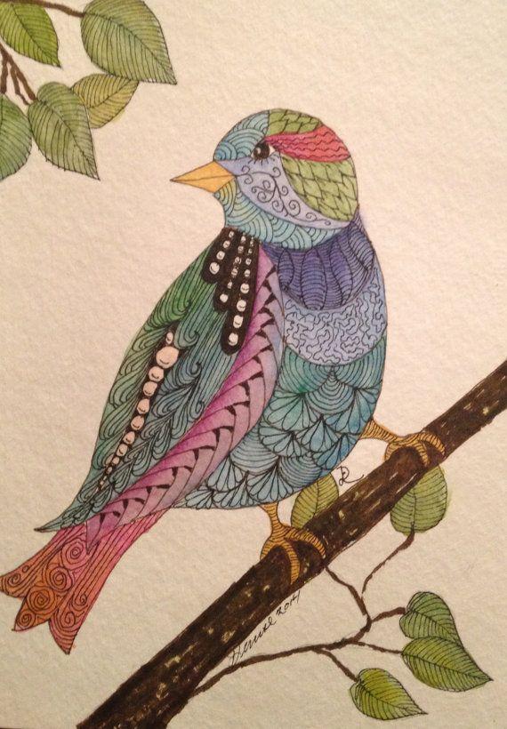 Bird Zentangle 02Coloring Printables