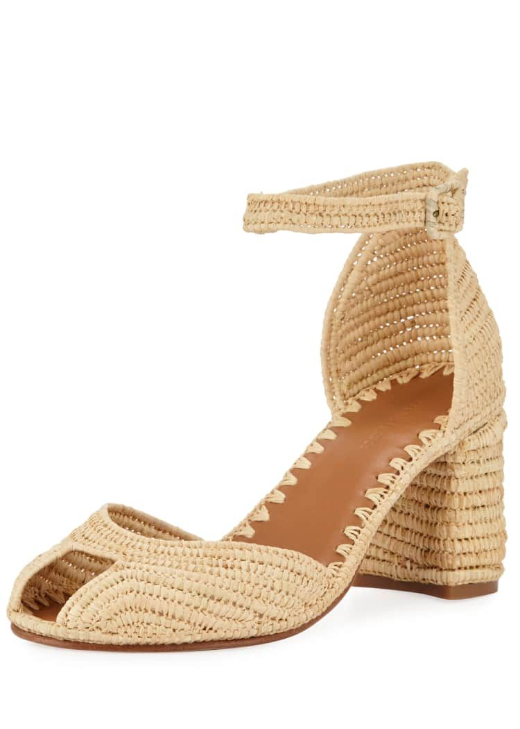 Carrie Forbes Laila Raffia Ankle Sandals - Bergdorf Goodman