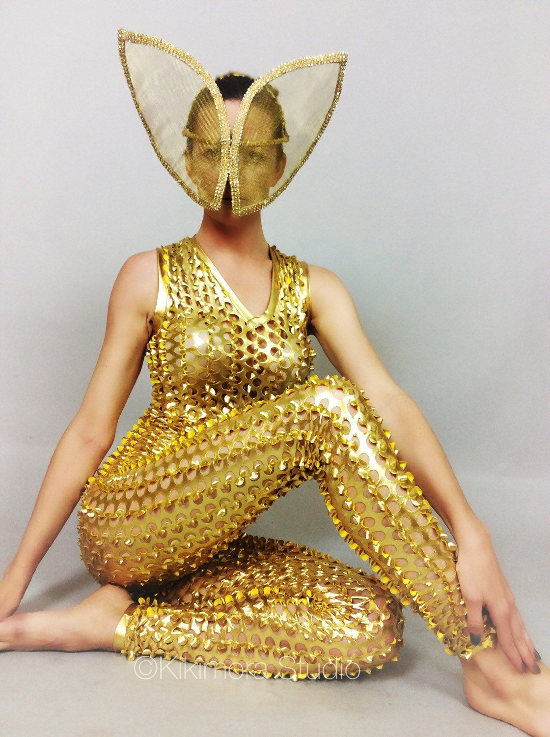 Cheap Price Gold Sparkling Crystals Women Sexy Bodysuit Nightclub Party Dancer Singer Jumpsuit Performance Dj Ds Stage Dance Costume Durable In Use Women's Clothing