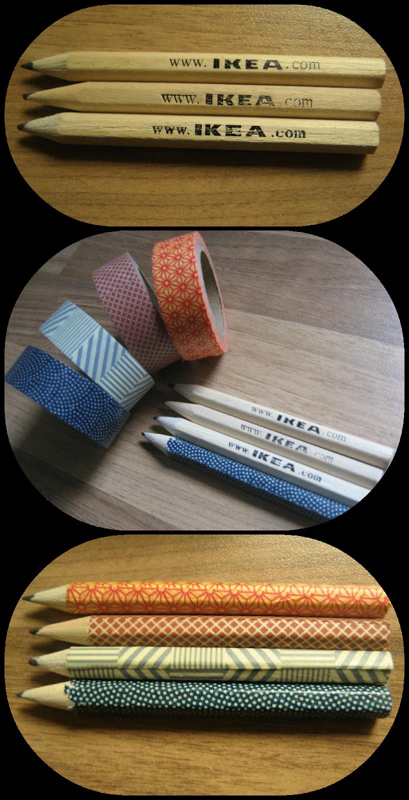 Ideas : Quand nos crayons ordinaires deviennent… Extraordinaire avec du ruban adhésif #IKEA #DIY