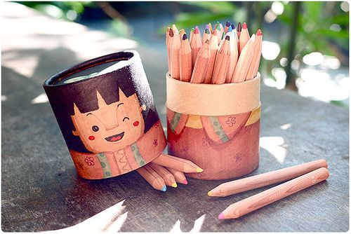 Custom Muji colored pencils canister #BACKTOSCHOOL