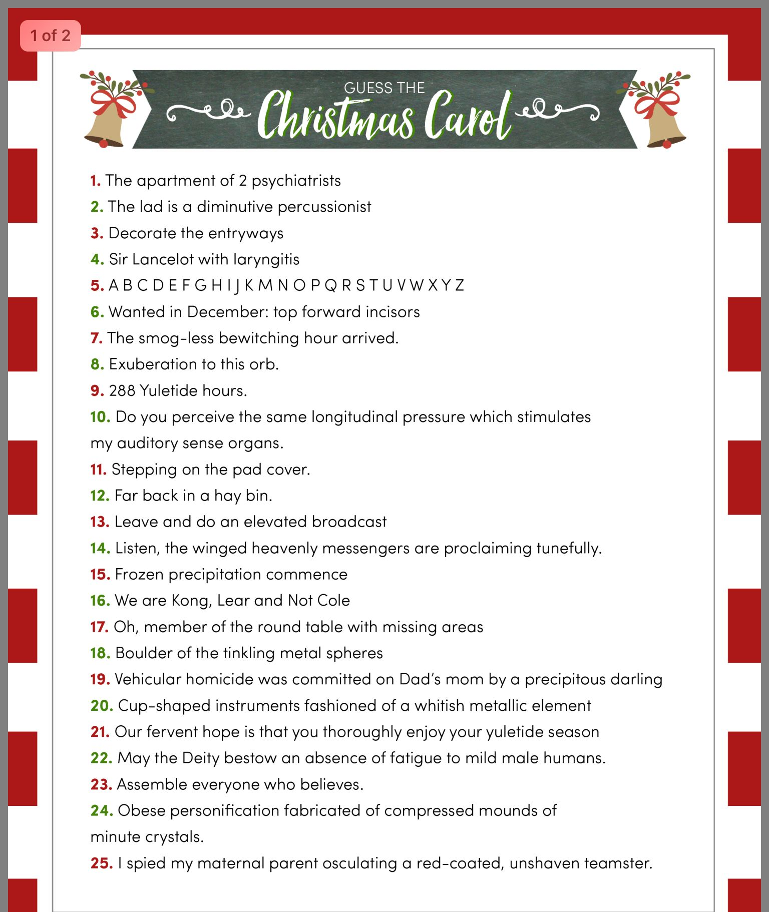 Pin by Karen Morrison on Party games Christmas trivia