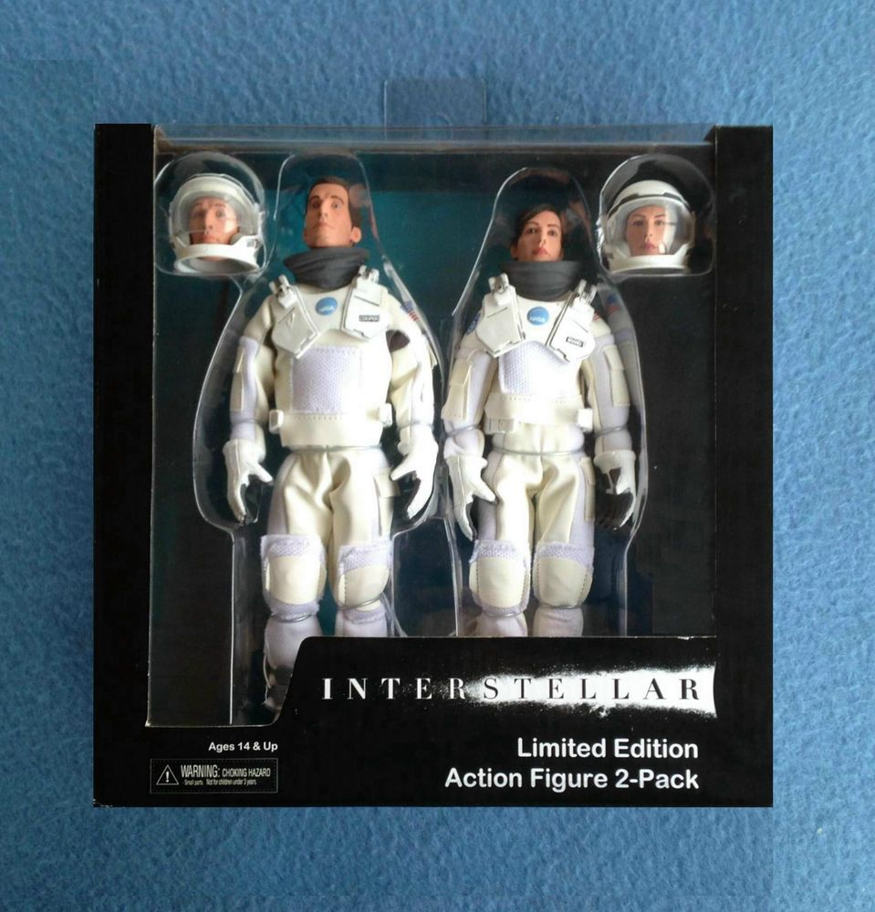 "NECA INTERSTELLAR 2-PACK 8/"" Clothed Retro Style Action Figure Amelia /&  Cooper"